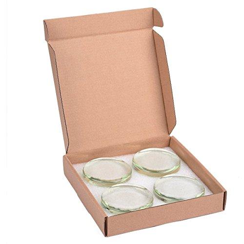 Glas-Fermentations-Gewichte für Einweckgläser, 4 Stück.