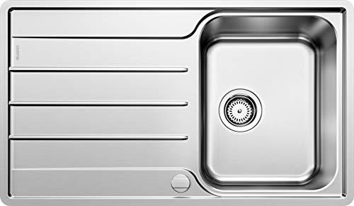 BLANCO LEMIS 45 S-IF – Edelstahlspüle für die Küche für 45 cm breite Unterschränke – Mit IF-Flachrand – 523031