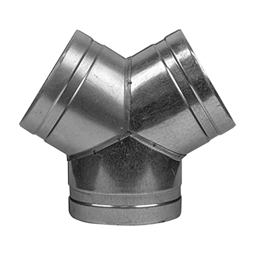 Vent Systems 4'' Inch Duct Connector 3 Way Hose Adapter/Splitter for Hose T-Shape Round Pipe Connector- Extractor Fan - Duct Hose Dryer Vent T Connector - 4 Inch 3 Way Fitting