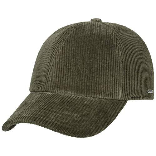 Stetson Gorra de Pana Ashton Hombre - algodón Beisbol con Visera, Forro, Cerrado por atrás otoño/Invierno - M (56-57 cm) Verde Oliva