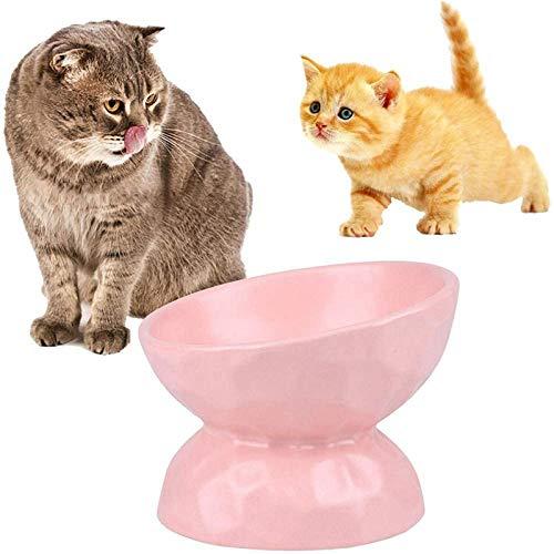 Katzennapf Keramik - 45 ° gekippte Katzenfütterungsschale zum Platzieren von...