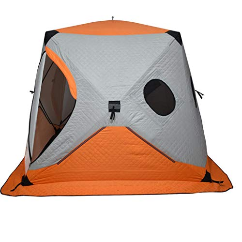 LZL Tents Automatic Pop Up Camping Tent 4 Person Panda Shape with 2 Doors Waterproof Instant Tent For Family Hiking Outdoor Tent (Color : Orange)