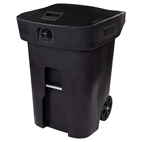 96 Gallon Fully Automated Blackstone Bear Proof Rectangular Wheeled Trash Can with Wheels and Locking Lid. Kitchen Garbage Can Office Trash Can Recycle Bin Waste Basket Touchless