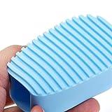 Lavado Limpieza Flexible Friega Cepillo De Mano Mini Tabla De Lavar Anti De La Resbalón De Limpieza De La Ropa De Baño