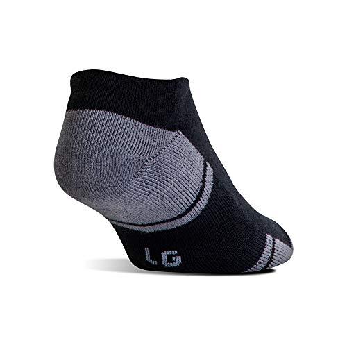 Under Armour Men's UA Resistor 3 No Show Socks, Black/Graphite, XL 13-15 (Men's Shoe 13-16)