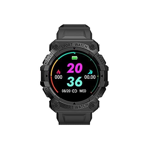 Zylina Pulsera deportiva inteligente, multifuncional, pantalla redonda, reloj portátil, podómetro, para actividades al aire libre, correr, viajes