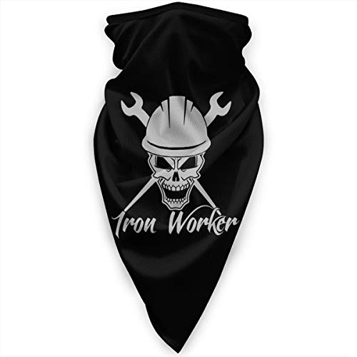 Neck Gaiter Warmer Windproof Face Mask Iron Worker Skull