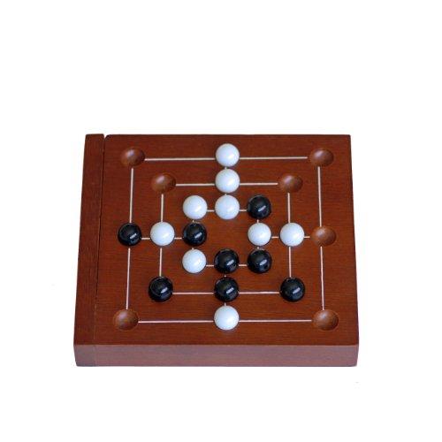WE Games Nine Men's Morris - 5 inch Travel Size