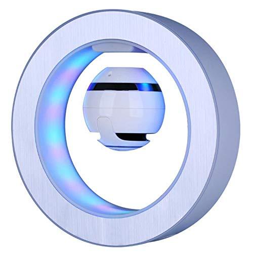 HAHALE Schwebende Lautsprecher, drahtlose Bluetooth-Lautsprecher mit LED-bunten Lichtern HD Sound-Qualität 360-Grad-Stereo-Surround-Sound für Schlafzimmer, Weiß