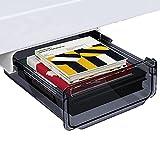 Cajon Adaptable Escritorio Negro Bajo Escritorio Cajon - 20x17x7cm - Cajon Adhesivo Debajo Escritorio para Oficina Y Escritorio