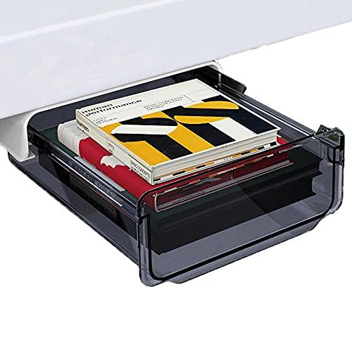 Szuflada pod blatem, czarna, biurko, szuflady, 20 x 17 x 7 cm, szuflada na biurko do biura, szkoły, kuchni