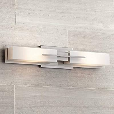 "Midtown Modern Wall Light Brushed Nickel 23 1/2"" Vanity Fixture for Bathroom Over Mirror Bedroom - Possini Euro Design"