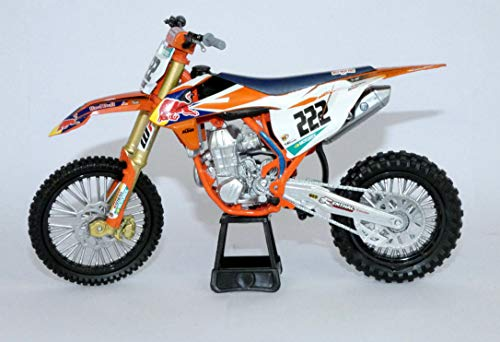 New Ray NR58123 1:10 Red Bull KTM 450 SX-F Cairoli 222, Orange
