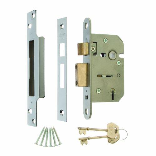 Yale Locks 77ENBPB Nachtriegelschloss emailliert Nickel Bronze 60/mm Dornma/ß Messingplatte