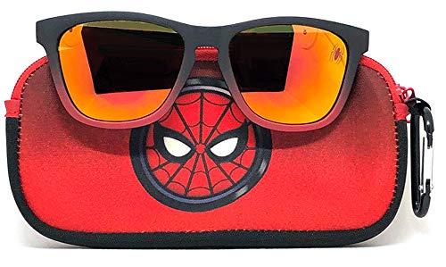 Marvel Spiderman Kids Sunglasses with Kids Glasses Case, Protective Toddler Sunglasses, Superman (V2), One Size
