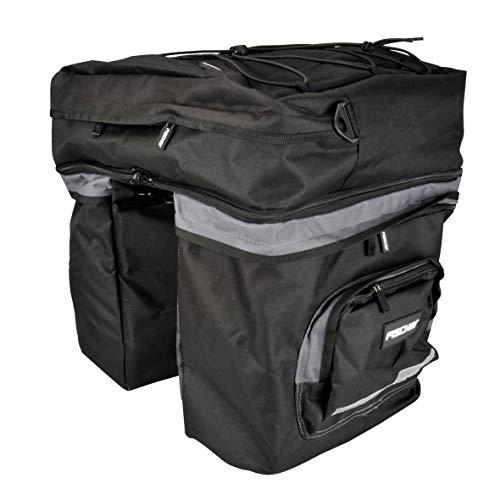 FISCHER Gepäckträger Tasche 1fach, Schwarz, 34 x 50 x 11.50 cm, 17 Liter