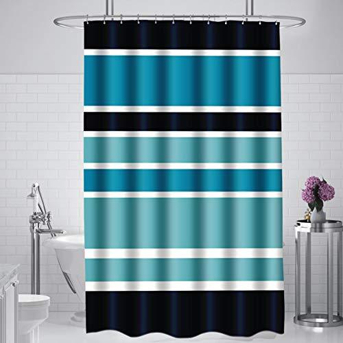 XGXQBS Streifen Duschvorhänge, Verdicken Sie Polyester Bad Vorhänge Antibakteriell Wasserdicht Lange Badevorhänge-a 180x200cm(71x79inch)