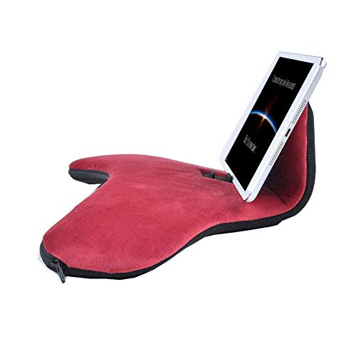 aycpg Soft Pillow Stand,Multi-angle Tablet Stand,Pillow Lap Pad Stand,Phone Wrist Support,Stand For Ipads,Tablets,And-readers,Smartphones,Books,Andtc. (Color : Red, Size : 40x23x11cm)
