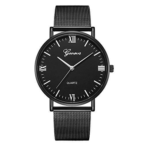 WUAI Women's Inexpensive Watch, Simple Minimalist Stainless Steel Mesh Strap Quartz Quartz Analog Watch Best Gifts for her