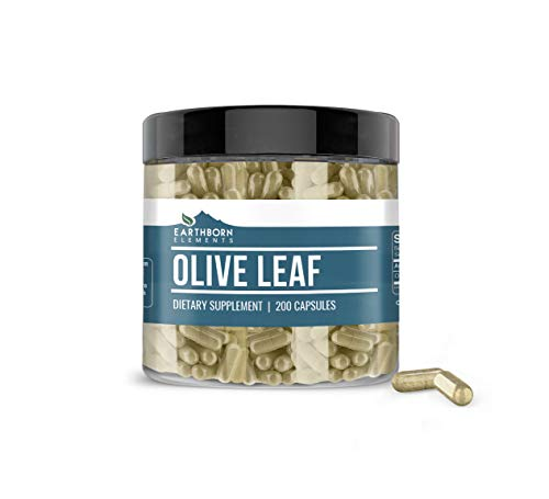 Olive Leaf Extract, 200 Capsules, 940mg Serving, 20% Oleuropein, Natural Antioxidant, Potent, Gluten-Free, Non-GMO, No Stearates or Filler, Lab-Tested, Made in USA, Satisfaction Guaranteed