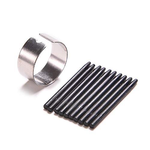 BAQI 10 pezzi di ricambio ACK-20001 punte per penna Wacom per Wacom Intuos 3 4 Bamboo CTE MTE CTL CTH con strumento per la rimozione della punta della penna