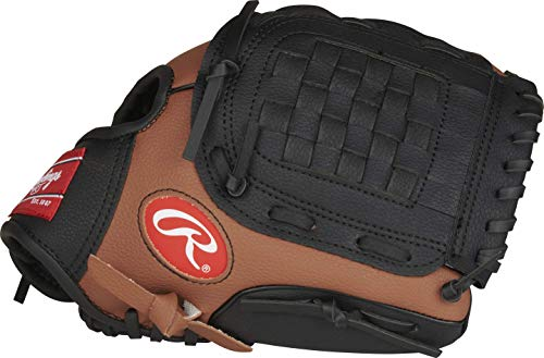 Rawlings Players Series Youth Baseball Glove, 10.5 inch, Brown/Black, Right Hand Throw, PL105DTB-12/0