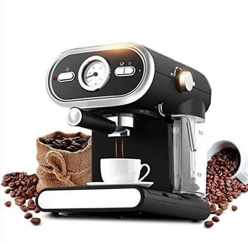 YAeele Máquina de café, café Express de la máquina semiautomática de café, Capuchino Moka Leche vaporizador Lanza Espuma de Alta presión, 20BAR, Regalos for los Amantes del café