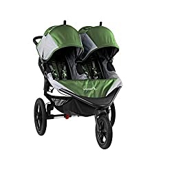 Double Jogging Stroller with Handbrake and Swivel Wheel