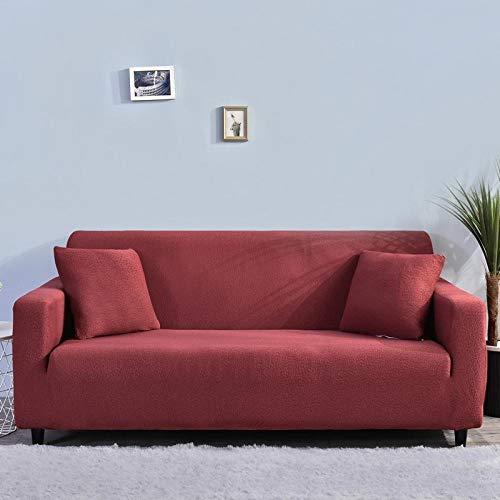 Antideslizante Protector Cubierta de Muebles 2 plazas y 3 plazas Protector de sofá Grueso Fundas de sofá sólidas para Sala de Estar,Impermeable Mascotas 145-185cm y 190-230cm2 PCS