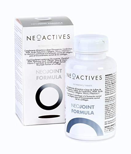 NeoJoint Formula | Con Sulfato Glucosamina y Condroitina, MSM, Ácido Hialurónico, Colágeno, Silicio y Vitamina C | Para formación de colágeno y funcionamiento normal de cartílagos (90)
