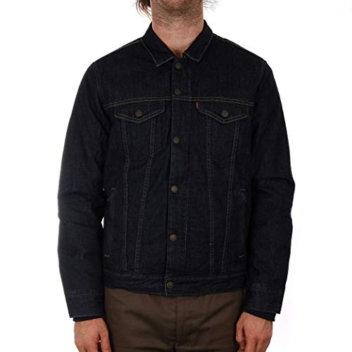 Levi's Hombre Down Fill Styled Trucker Jacket, Azul, X-Large
