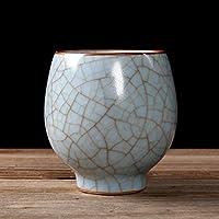 中国の伝統的なティーカップ、陶磁器の桜のティーカップの氷の割れた釉薬中国の手作りの磁器ティーボウルB 80ml