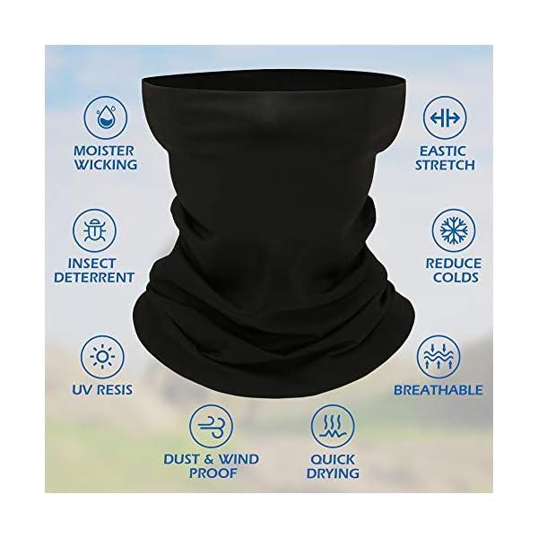 Neck Gaiter, Face Cover Scarf, Reusable Neck Mask Unisex Face Gaiters Bandanas Balaclava for Sun UV Dust Wind Protection