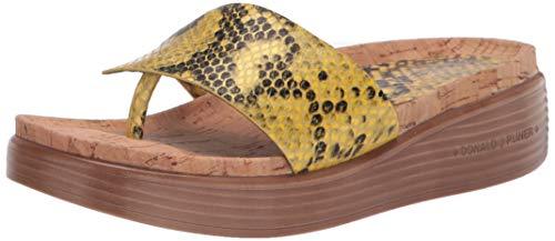 Donald J Pliner Women's Slide Sandal, Lemon, 10