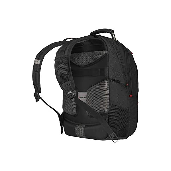 """41tpUcn356L. SS600  - WENGER 606492 Pegasus Ballistic Deluxe 14""""/16"""" Expandable Laptop Backpack, Padded Laptop Compartment with SmartCharge USB Port in Black {25 litres}"""