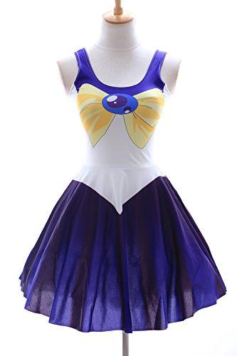 SK-08 Gr. S-M Sailor Moon Uranus blau blue Kleid dress Cosplay Manga Japan Anime