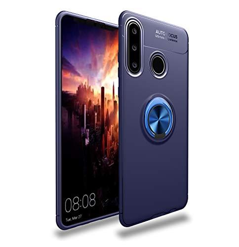 Funda portátil para Huawei Y7P (2020), para Huawei P40 Lite E, para Huawei Honor 9c Case suave de TPU con anillo magnético de metal giratorio, disipación de calor y protección contra caídas.