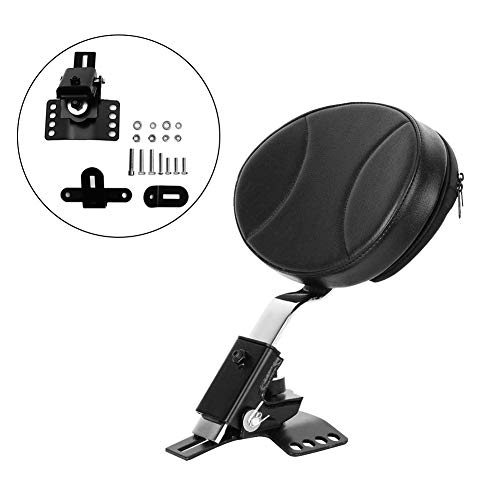 GDAUTO Motorcycle Adjustable Driver Rider Backrest Plug-in Rider Backrest with Mounting Kits for 1997-2019 Harley Davidson Touring Models Road King/Street Glide/Road Glide/Electra Glide