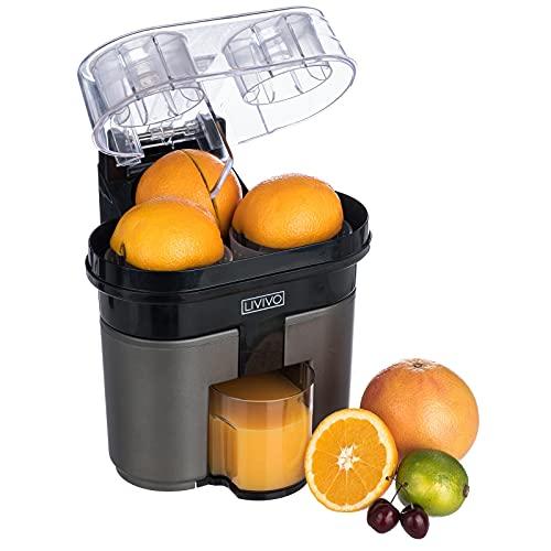 LIVIVO Electric Twin Citrus Juice Maker, with Anti-Drip Valve Citrus Orange Fruits Squeezer Household Fruit Mixer, Fast Double 90W Electric Lemon Orange Fresh Juicer Cutter Slicer