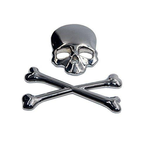 T Tocas skull crossbone pirate Car 3D Emblem Logo Chrome Metal Badge Sticker decal for Suzuki Kawasaki Harley Yamaha Honda
