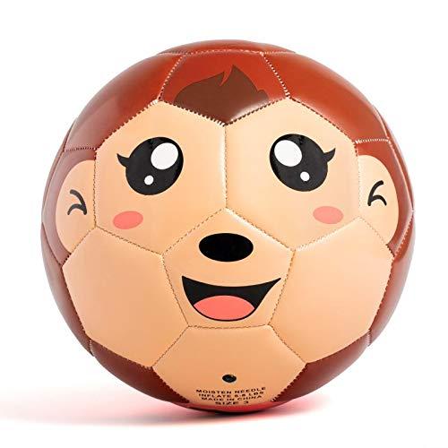 YANYODO Fussball Kinder, Mini Fußball Größe 3 Fussballtraining für Kinder Jungen unter 8 Jahre Alt, AFFE-Gesicht