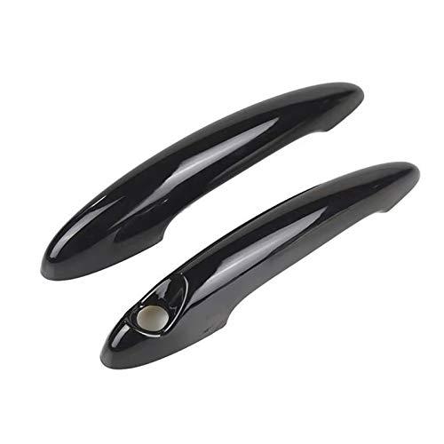Weiyang Cubierta de la manija de la puerta del automóvil de fibra de carbono negro Gloss Ajuste para BMW Mini Cooper S R50 R52 R53 R55 R56 R57 R58 R59 R61 Cubierta de mango de coche (Color : Black)