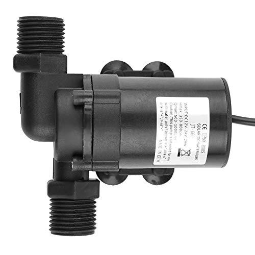 Bomba de Agua - Bomba de Agua sin Escobillas VIFER Mini DC para Calentador de Agua Solar 24V -40 ℃ ~ 100 ℃