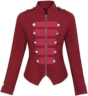 Kate Kasin Womens Victorian Steampunk Ringmaster Jacket Military Blazer