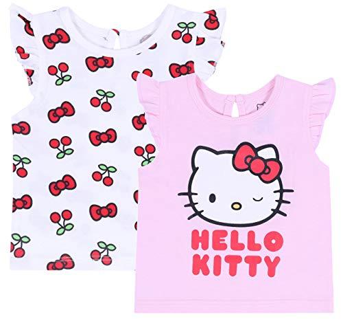 2 x Hello Kitty Rose et Blanche 18-24 Mois