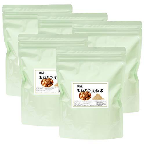 自然健康社 国産・玉ねぎの皮粉末 300g×5個 チャック付き袋入り