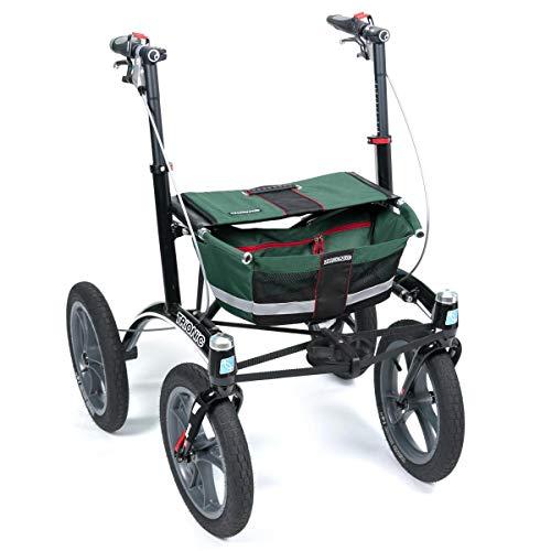 Rollator Walker 14er grün/schwarz/rot