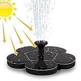 Migimi Solar Springbrunnen, Solar Teichpumpe Outdoor Schwimmender Fontäne Pumpe mit 1.4W Monokristalline Solar Panel Garten Solarpumpe für Gartenteich, Vogel-Bad, Fisch-Behälter, Kleiner...