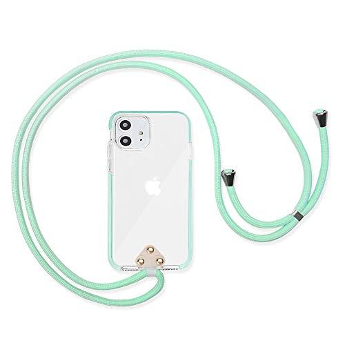 COCASES Handykette Kompatibel mit iphone11,Handyhülle zum Umhängen Schutzhülle mit Band Durchsichtige Hülle mit Kordel(6,1