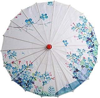 Paraguas de mujer flores de cerezo japonés seda antigua danza paraguas decorativo paraguas de papel de aceite de estilo ch...